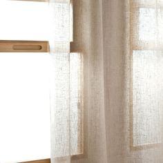 linen ruffled curtain panel / curtain panel with ruffles / 100 ... - Zara Home Tende Soggiorno