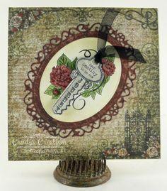 Candy Slabaugh creates a card featuring #HeartfeltCreations #Spellbinders #Key