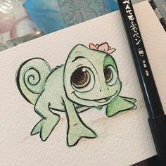Pascal arte disney, disney art, amazing drawings, easy drawings, easy d Easy Disney Drawings, Disney Character Drawings, Easy Doodles Drawings, Disney Drawings Sketches, Cartoon Drawings, Animal Drawings, Cute Drawings, Drawing Sketches, Drawing Tips