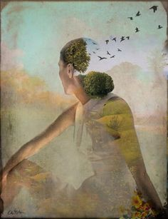Summer Dreaming by Catrin Welz-Stein a German Graphic Designer living in Malaysia. She creates amazing surreal illustrations from vintage photos