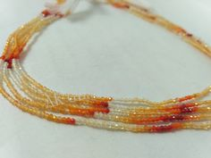 1 Strand Natural Mexican Fire Opal Faceted Rondelle 3-4mm Beads Strands 13 Long,Multi Opal Beads Strand,Fire Opal Beads Strand
