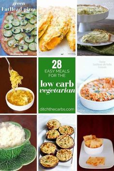 Perfect low carb vegetarian meals. Low carb can be so difficult for vegetarians, but these recipes change everything. | ditchthecarbs.com via @ditchthecarbs