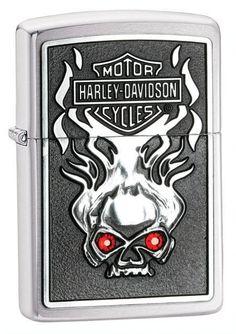 2012 HARLEY DAVIDSON ZIPPO #28267 ~~~ RED EYES / SKULL ~~~