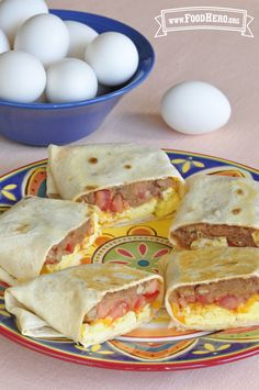 Breakfast Burritos. Easy to make and taste delicious! #breakfast #burrito #foodhero