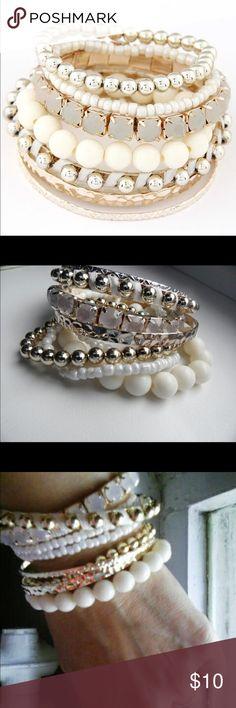 Gorgeous Bracelet set Gorgeous bracelet set!  Wear it with a part dress or jeans!  Super versatile item and new in pkg Jewelry Bracelets