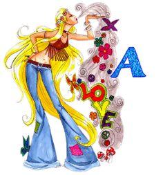 Alfabeto de chica hippy love. | Oh my Alfabetos!