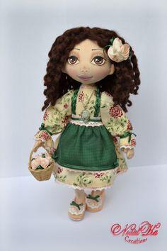 Авторская текстильная кукла. Cloth art doll handmade by Natalka Creations