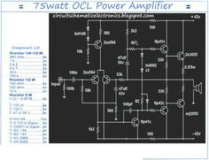 75W Mono OCL power Amplifier or 150W stereo output power including PCB Design 150W OCL Power Amplifier