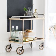 G y l l e n e f y n d interior styling, interior design, diy bar cart, livi Console, Diy Bar Cart, Interior Styling, Interior Design, Entertainment Center Kitchen, Bars For Home, Cabinet, Interior Inspiration, Home Accessories
