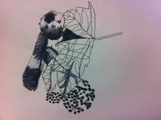debris drawing with water and fineliner - 17th September