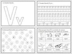 EDUCATIA CONTEAZA: Literele V, X, Z Tracing Worksheets, Preschool Worksheets, Diy And Crafts, Bullet Journal, Learning, Beauty Makeup, Colors, Full Bed Loft, Studying
