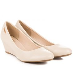 Béžové lodičky na kline 303BE Wedges, Flats, Shoes, Fashion, Loafers & Slip Ons, Moda, Zapatos, Shoes Outlet, Fashion Styles