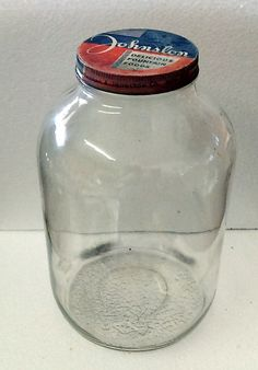 Vintage 1948  One Gallon Johnston Delicious Foods Duraglas Glass Jar by FairbanksAntiques on Etsy