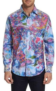 This is a Robert Graham Floral design preowned Medium size shirt. No issues. Worn few times. We ship worldwide fully insured. Signature is required upon delivery. Casual Button Down Shirts, Casual Shirts, Mens Hottest Fashion, Medium Size Shirt, Robert Graham, Mixing Prints, Sports Shirts, Workout Shirts, Printed Shirts