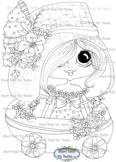 INSTANT DOWMLOAD Digital Digi Stamps Big Eye Big Head Dolls Digi Scan00012223  By Sherri Baldy ( I have this to color)