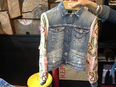 Replay amazing jean and lace jacket Replay Monte Carlo!!!