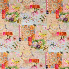 Cotton Kaleidoskops Blick - Baumwolle - apricot