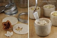 Making these for girls camp with all those baby food jars. Could be a fun activity to do BEFORE leaving . . . freeze them.