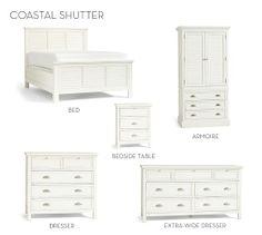 Coastal Shutter Bed & Dresser Set   Pottery Barn