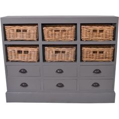 great storage! - Nantucket Cabinet in Dark Gray
