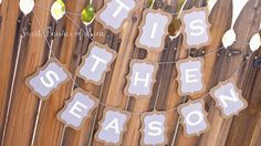 Tis The Season Banner by sweetbannerofmine on Etsy