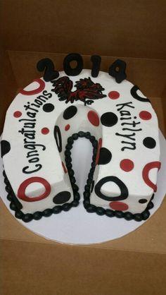 USC graduation cake horseshoe South Carolina Gamecock garnet and black congratulations graduate