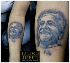 # Kuvempu tattoo # Portrait #  by:Sunil Ck # ;) Get inked from Experienced Tattoo Professional.. Call: Sunil C K @ +91 9035217218 to book your appointment.  www.facebook.com/tattooimpec