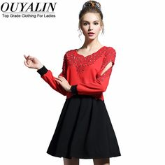 L- 5XL Lace Patch Fall Skater Dress Open Long Sleeve Black And Whiter Patchwork Flare Short Like if you remember http://www.artifashion.net/product/l-5xl-lace-patch-fall-skater-dress-open-long-sleeve-black-and-whiter-patchwork-flare-short/ #shop #beauty #Woman's fashion #Products