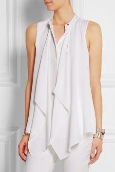MICHAEL Michael Kors|Draped silk blouse|NET-A-PORTER.COM
