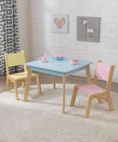 Look at this #zulilyfind! KidKraft Pastel Modern Table & Chair Set by KidKraft #zulilyfinds