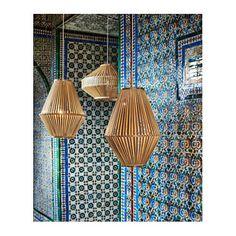 IKEA JASSA pendant lamp shade Each handmade natural fibre shade is unique.