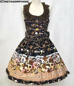 metamorphose temps de fille CL クラウンショコラ衿付ジャンパースカート