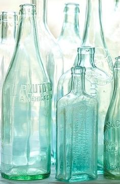 vintage glass bottles...