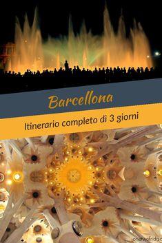 Itinerario completo di tre giorni a Barcellona tra chiese, quartieri storici, musei, arte e architettura Travel Tips, Dream Trips, Blog, Travelling, Tourism, Viajes, Art, Travel, Travel Advice