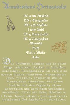 Heringssalat + Lorbeerblatt und Piment!