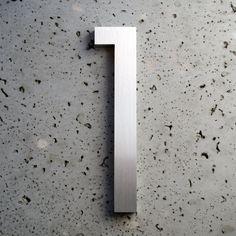 Modern House Number Aluminum Modern Font Number One  1. $25.99, via Etsy.