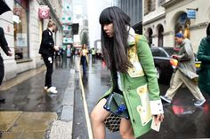 Susie Bubble wearing Peter Pilotto coat, Ashley Williams sweater, Topshop skirt, Christopher Kane bag #susielau #stylebubble