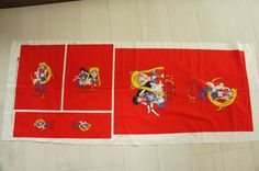 Sailor Moon Fabric Kit Middle Weight -Tote Shoes/ chopstick Bags. $20.00