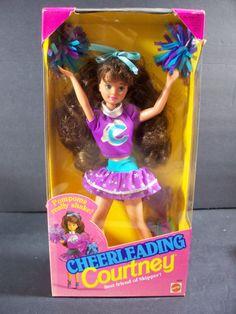 Barbie Doll 1992 Cheerleading Courtney Pom Poms | eBay