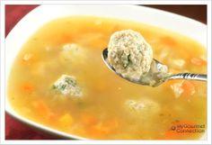 Chicken and Matzo (Matzah) Ball Soup from MyGourmetConnection.com