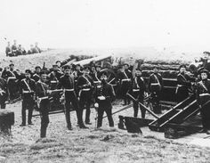 French-Prussian War, 1870 - Prussian battery before Paris