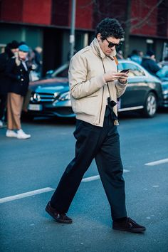 Be inspired by the best-dressed men spotted on the streets of Milan by Jonathan Daniel Pryce during the Menswear shows this season.