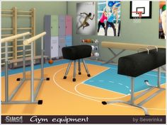 Gym equipment set by Severinka at TSR • Sims 4 Updates