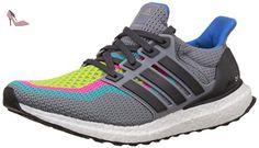 pretty nice fe0df 329e1 adidas Ultra Boost M, Chaussures de Running Homme, Gris   Vert (Gris