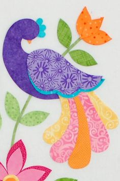 Bird applique - commercial pattern.  Tutorial available on doing applique.  This is a really cute pattern!!!! Must do this!!!