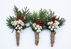 Rustic Boutonniere Winter boutonniere by WildRoseAndSparrow