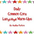 Common Core daily warm up qurstions covering CCSS.