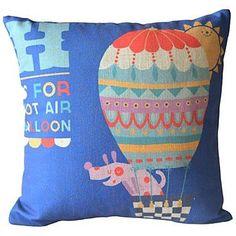 Rhino and balloon cushion - www.thefunkycushionstore.co.uk