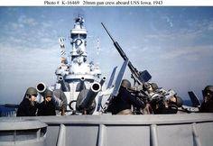 20mm gun crew aboard USS lowa, 1943