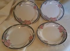 "Set of 4 Salad / Lunch Plates 7 1/2"" by KUL3 by Kun-Lun [KULKUL3] Made in China"